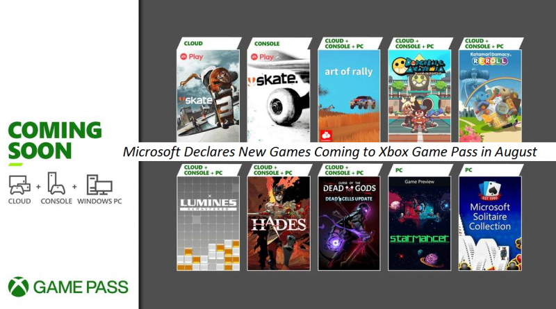 Microsoft Declares New Games