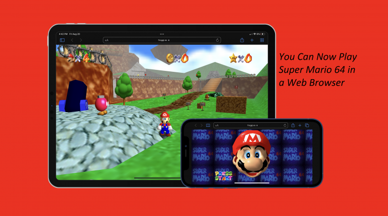 Super Mario 64 in a Web Browser