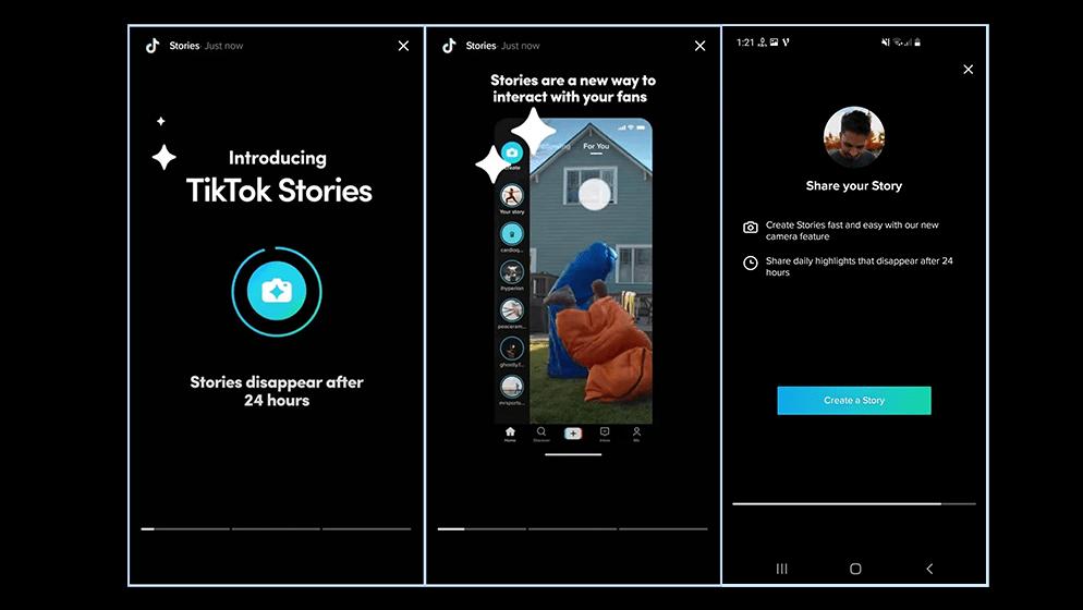 TikTok Stories Display