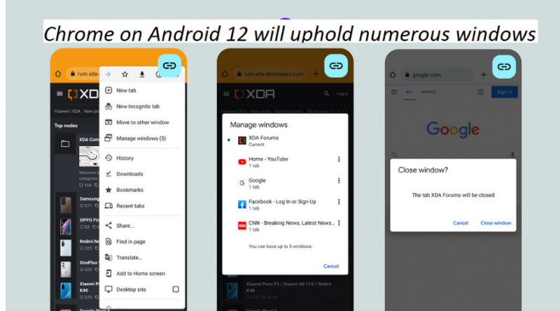 Chrome on Android 12