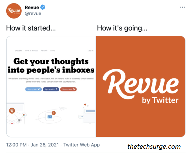 Revue Newsletter Subscribe Button