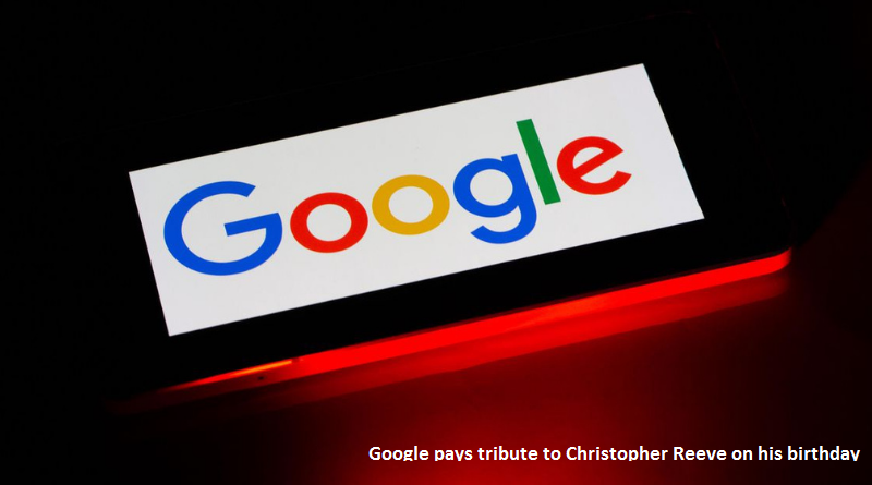 google tribute to Christopher Reeve