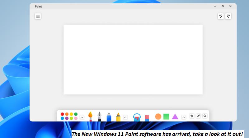 Windows 11 New Paint software