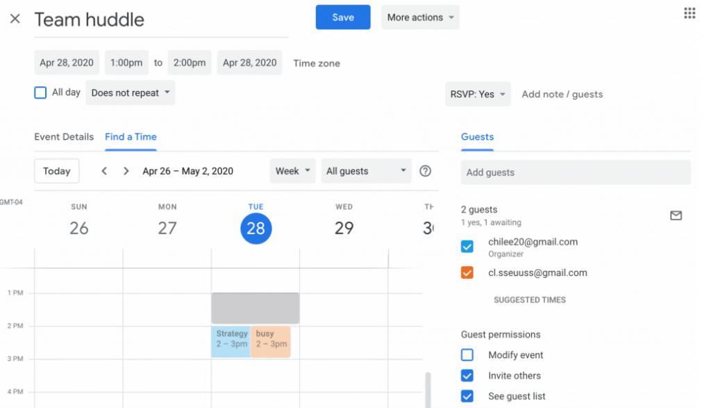 Google Calendar Display