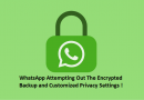 WhatsApp Attempting Encrypted Backup